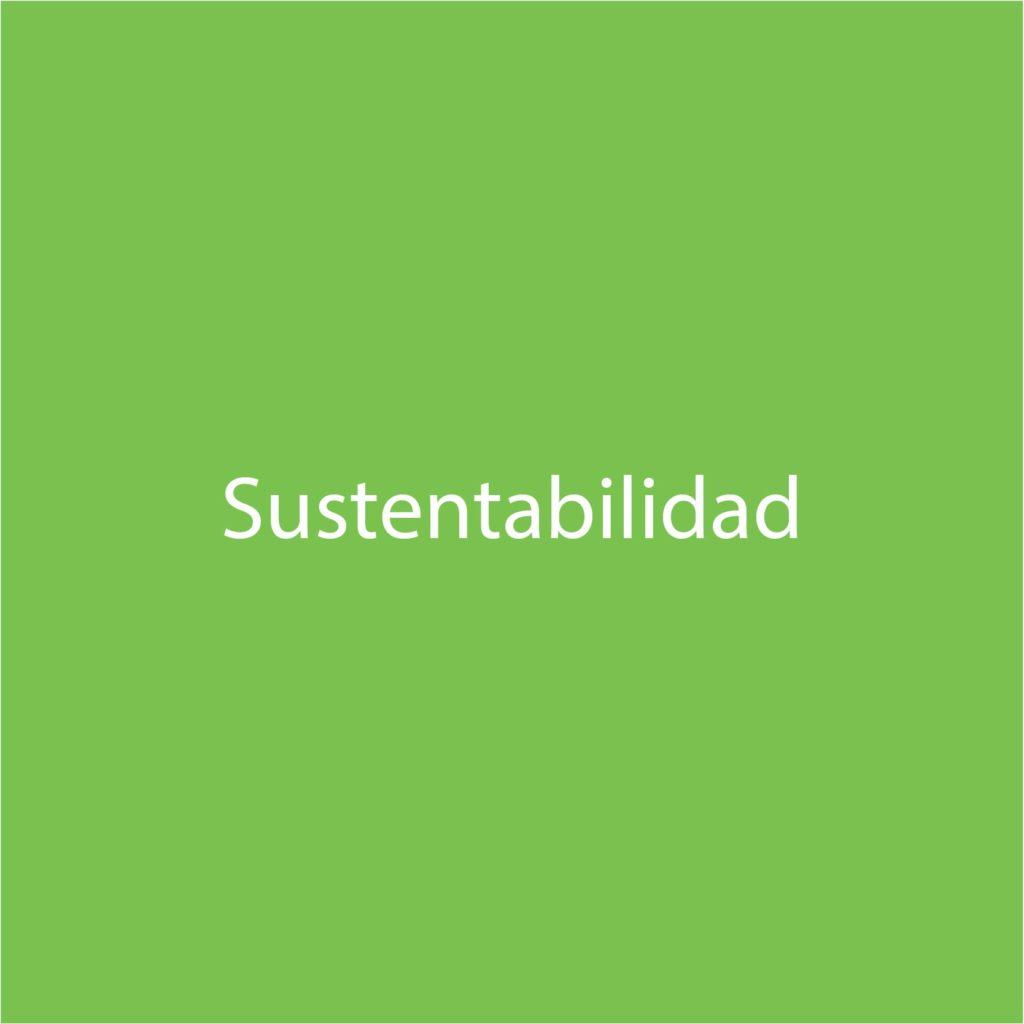 letra sustentabilidad verde