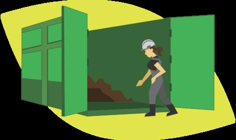 Las cajas Roll Off cuentan con dos puertas traseras para cargar y descargar al nivel del suelo. Es un sistema répido y seguro.
