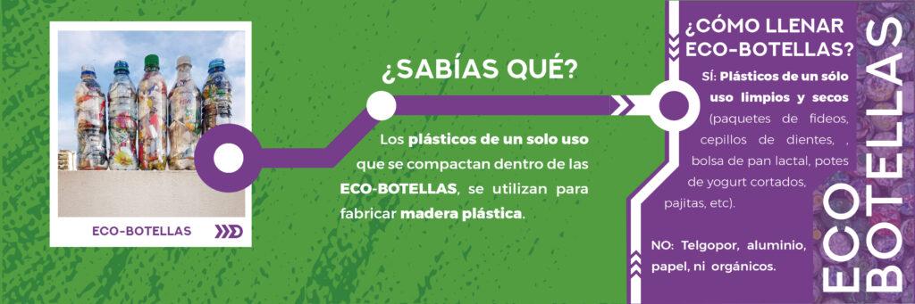 ¿Sabías qué? Los plásticos de un solo uso que se compactan dentro de las Ecobotellas se usan para fabricar madera plástica