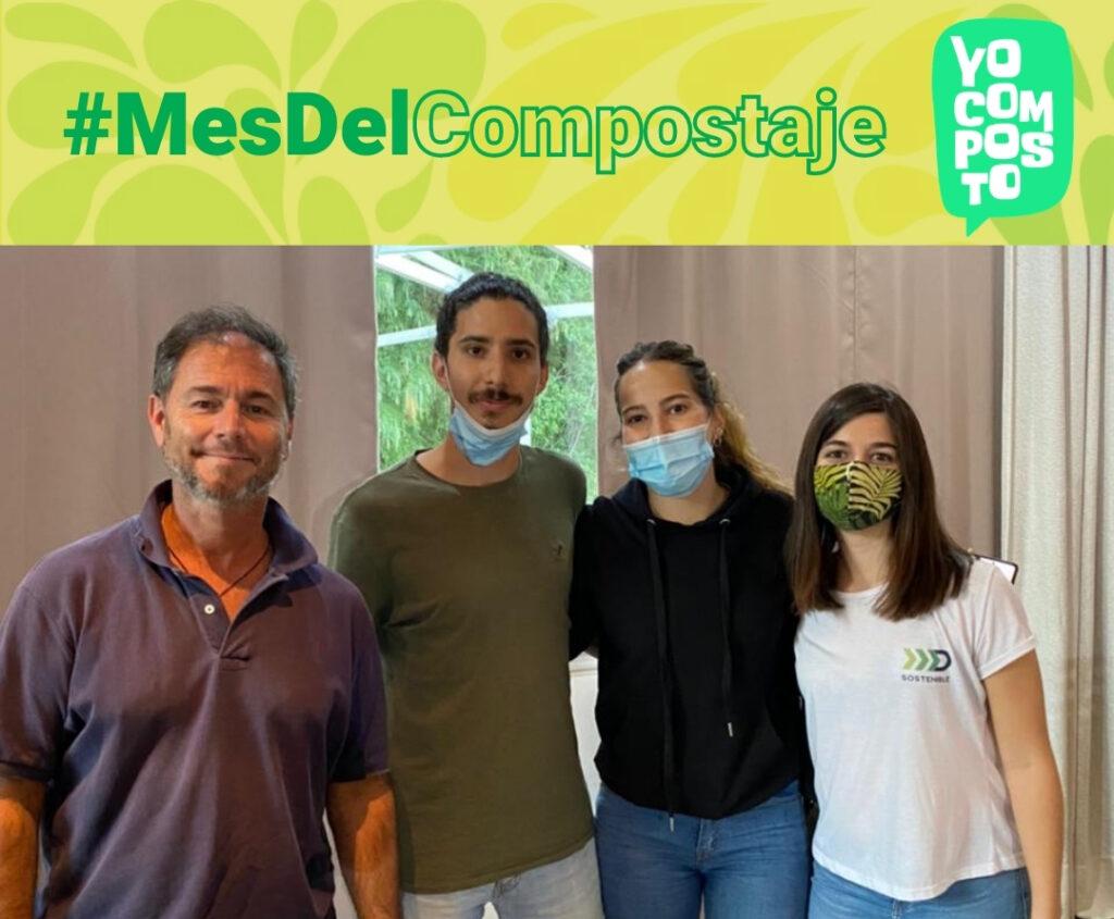 El equipo de Solucion Verde y Destino Sostenible con Mario Parodi en el Mes del Compostaje