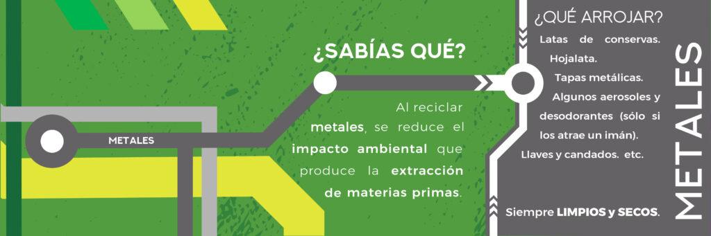 ¿Sabías qué? Al reciclar metales, se reduce el impacto ambiental que produce la extracción de materias primas.