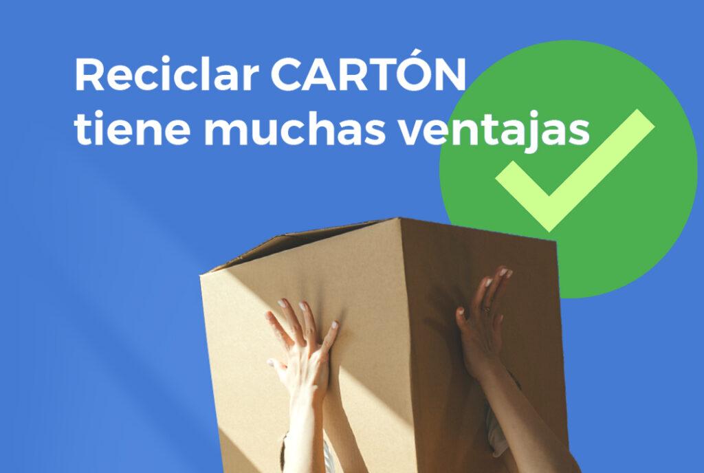 Reciclar cartón tiene muchas ventajas