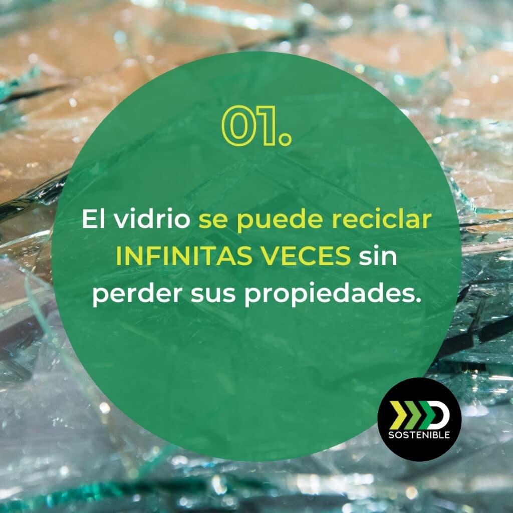 El vidrio se puede reciclar infinitas veces