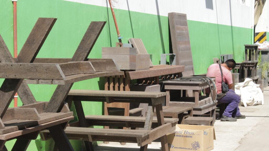 Productos de madera plástica